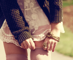 fashion, lace, and rings image