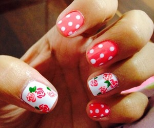 flowers, cute, and nails image
