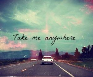 car, quotes, and road image
