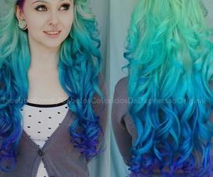 hair and blue hair image