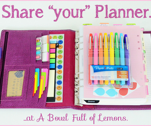 planner and colorful image