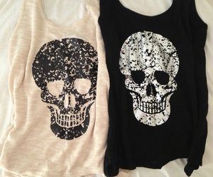 fashion, skull, and shirt image