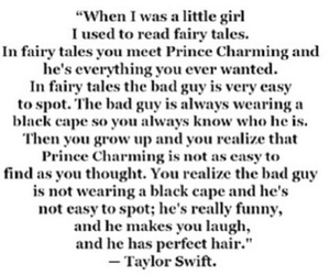 quotes, Taylor Swift, and fairytale image