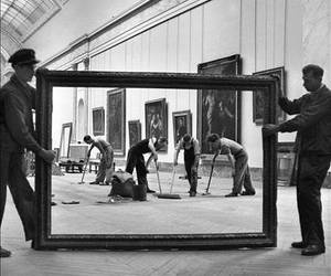 art, louvre, and black and white image