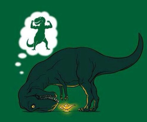 funny, dinosaur, and t-rex image
