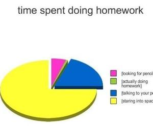 homework, funny, and text image