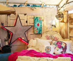 bedroom, star, and bed image