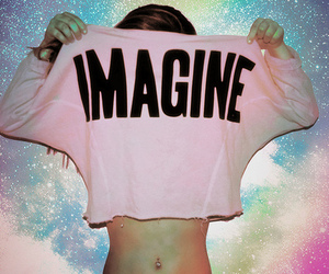 galaxy, pink, and imagine image