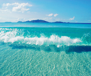 beach, blue, and photography image