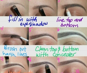 diy, fashion, and eyebrows image