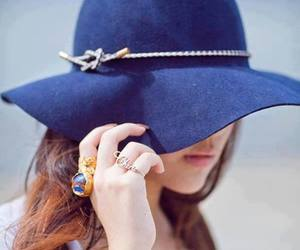 beauty, hat, and girl image
