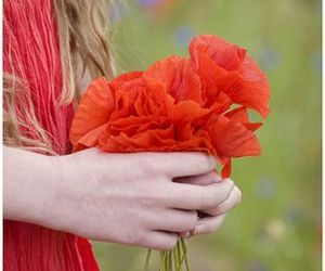 dress, photography, and flower image
