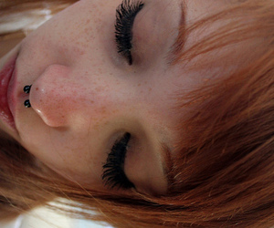 girl, ginger, and piercing image