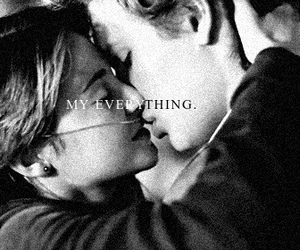 the fault in our stars, kiss, and love image