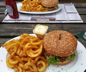 food, burger, and yummy image