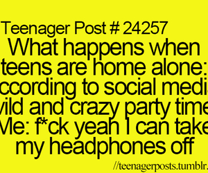 headphones and teenager posts image