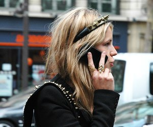 fashion, blonde, and studs image