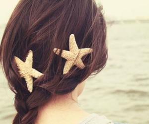 brown, hair, and sea image