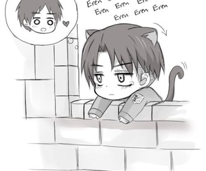 eren, anime, and levi image