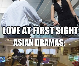 drama, funny, and love at first sight image