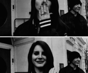 lana del rey, kiss, and black and white image