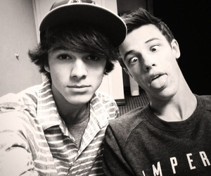 cameron dallas, brent rivera, and magcon image