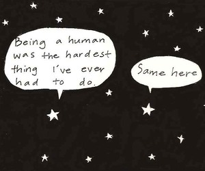 stars, quotes, and human image