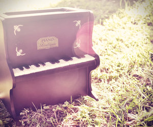 music, piano, and vintage image