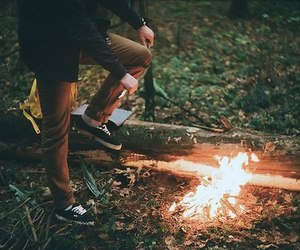 fire, indie, and boy image