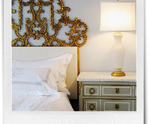 gold, gray, and headboard image