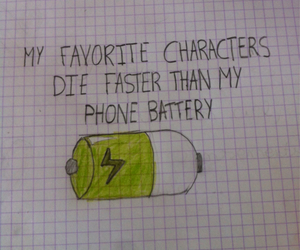 battery, death, and die image