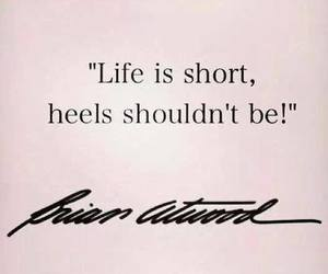 heels, quotes, and life image