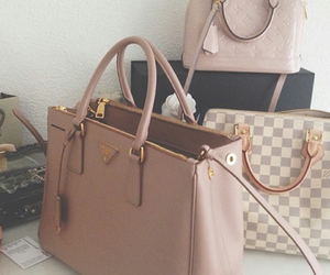 bag, Louis Vuitton, and Prada image