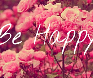 flowers, pink, and happy image