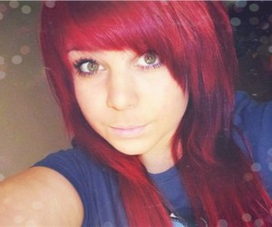 eyes and red hairs image
