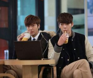 lee min ho, kim woo bin, and the heirs image