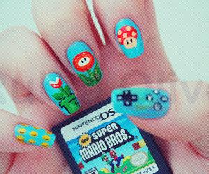 nails, mario, and nintendo image