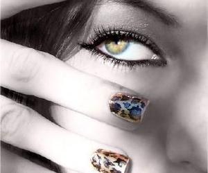 evil, eye, and nail art image