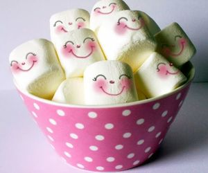 marshmallow, sweet, and pink image