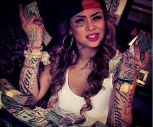 tattoo, money, and swag image