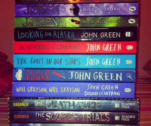 books, john green, and percy jackson image