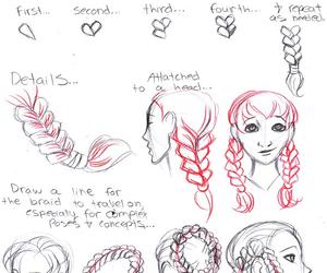 diy, braid, and draw image