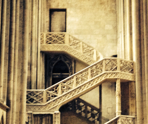 cathedral, france, and stairs image