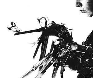 black and white, johnny depp, and edward scissorhands image