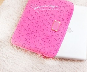 pink, apple, and ipad image