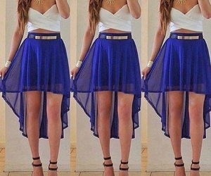 blue, outfit, and summer image