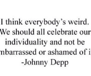 johnny depp, weird, and quote image
