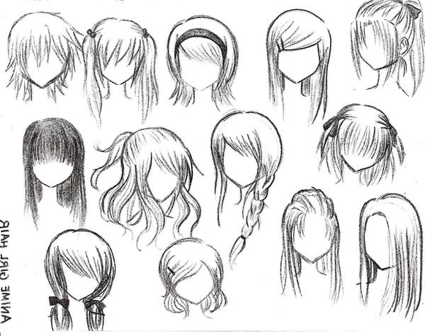 anime girl hair style anime hairstyles search we it 3128 | original