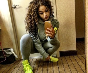 curly hair, dope, and shoes image