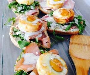 brunch, cream cheese, and salads image